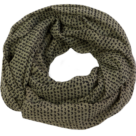 Cam Olive Cotton Scarf