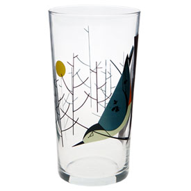 Charley Harper Nuthatch 20oz. Glass