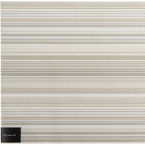Placemat, Multi Stripe weave, Champagne, Rectangle