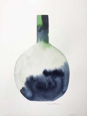 Watercolor Vessel XXV by Rachel Austin, 11x14