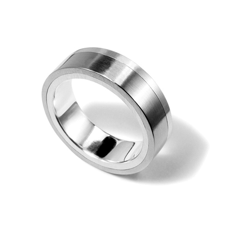 Silver and Stainless Steel Ring