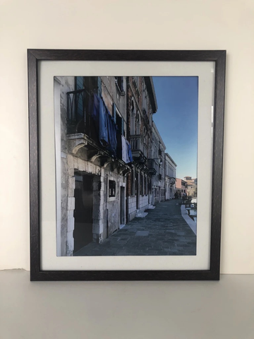 Blue Laundry, Framed Photograph