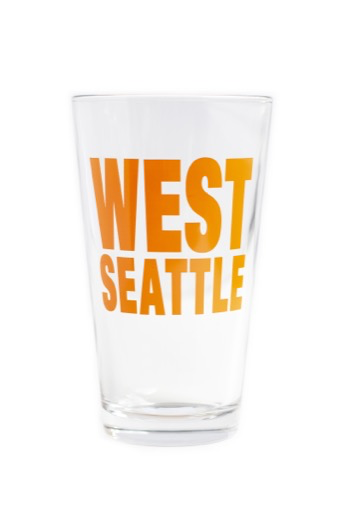 West Seattle Pint Glass - Tangerine