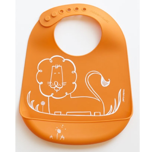 Bucket Bib, Dandy Lion, Orange