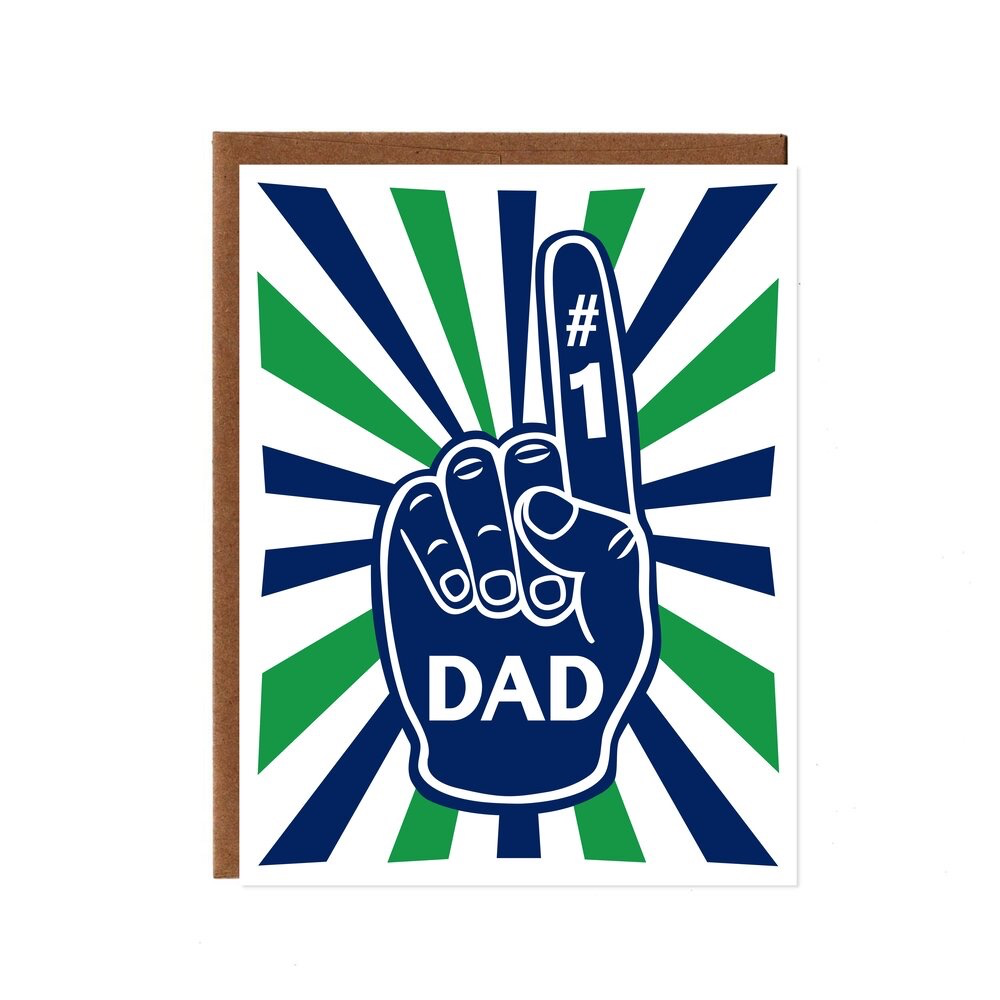 #1 Dad Card, Green