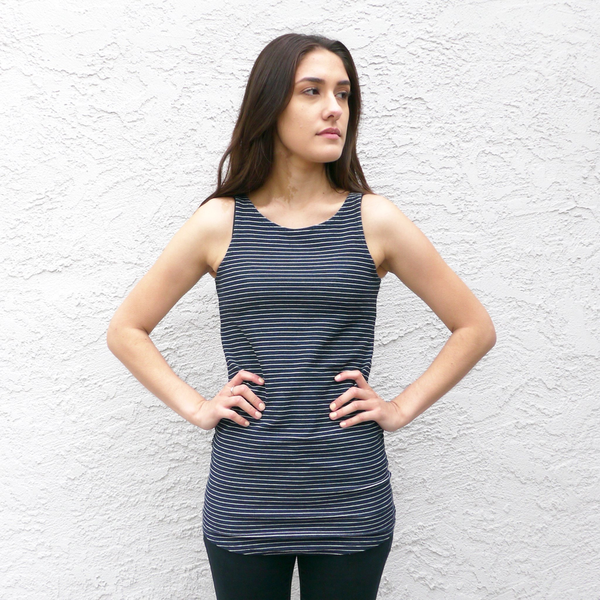 FluffyCo Long Tank, Striped