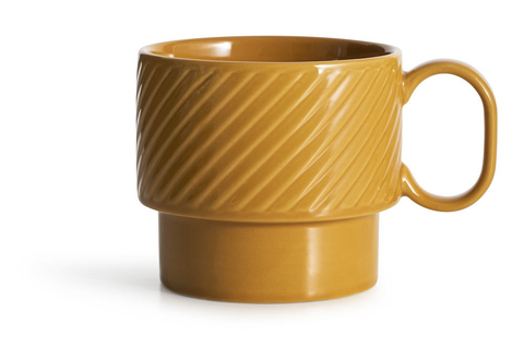 Large Textured Mug - Yellow