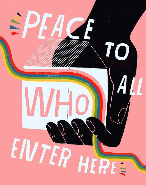 Peace to All Who Enter Here Print
