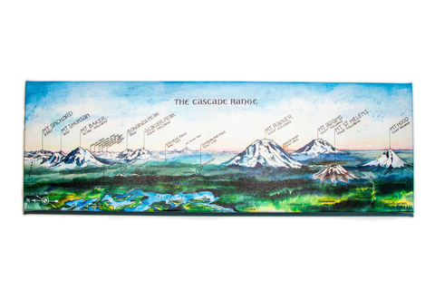 Cascade Range Wrapped Canvas Print