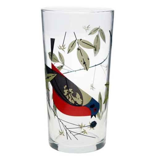 Charley Harper Painted Bunting 20oz Glass