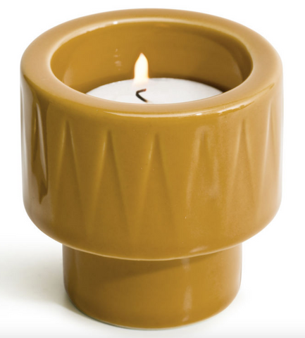 Tealight holder / Egg Cup - Yellow