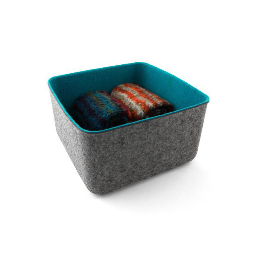 Felt Storage Basket, Medium Blue