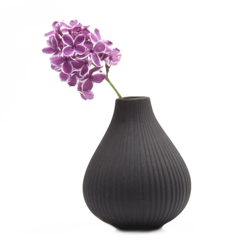 Ceramic Bud Vase, Black