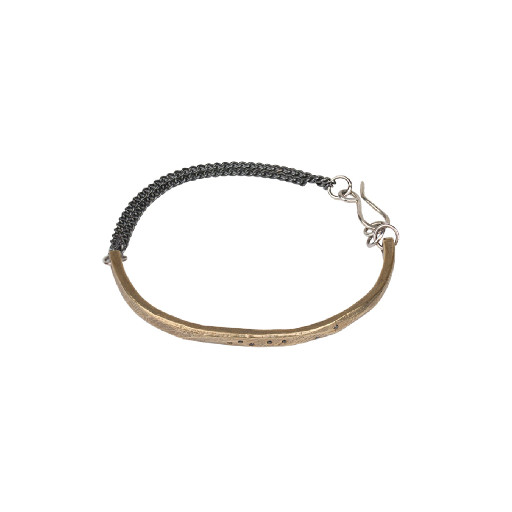 Skipping Stones Bracelet, Bronze + Black Diamonds