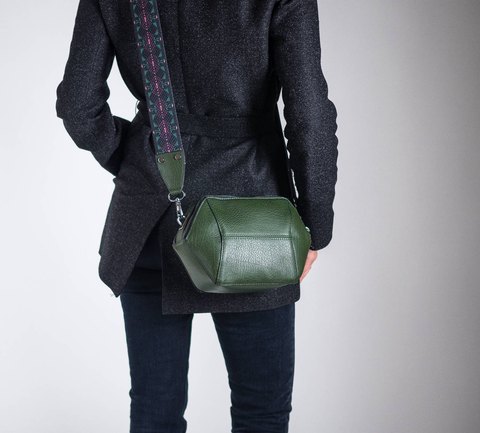 Geometric Convertible Crossbody Bag, Vegan