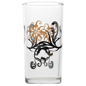 Italian Wine Glass, Pinwheel pattern