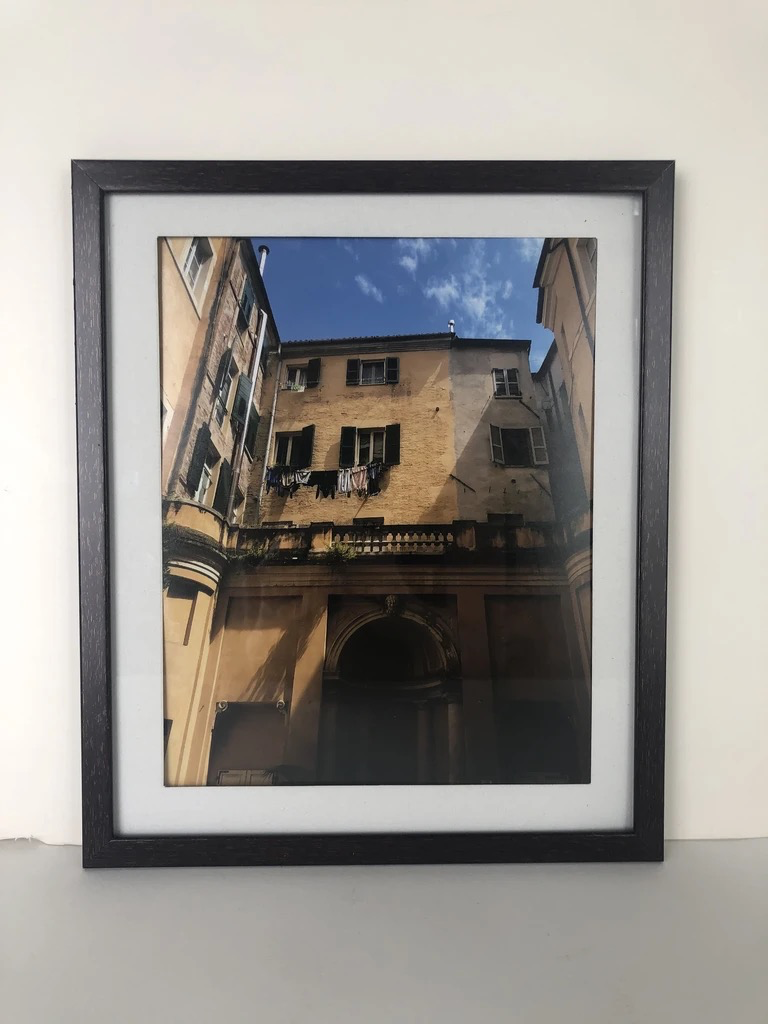 Yellow Building, Framed Photograph