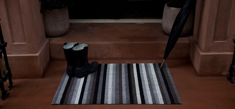 Chilewich Shag Indoor/Outdoor Floor Mat, Even Stripe