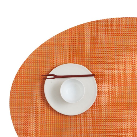 Placemat, Mini Basketweave, Clementine, Oval