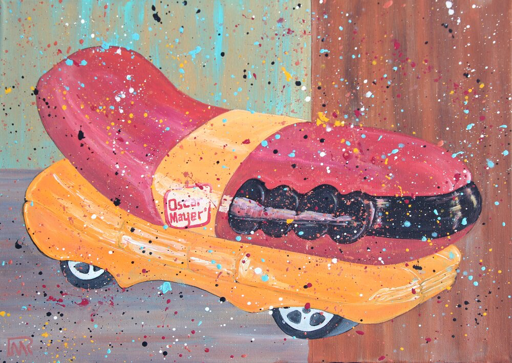 Wiener Mobile - The 70's Series - Acrylic on Canvas
