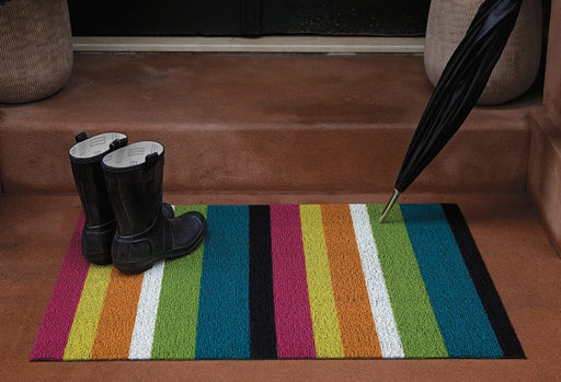 Chilewich Indoor-Outdoor Shag Mat Bold Stripe