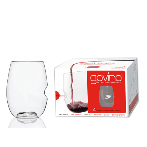 Govino 16oz wine glasses, set of 4