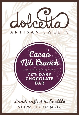 Dark Chocolate Cacao Nib Crunch Bar