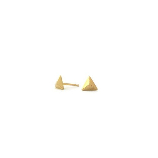 Tiny Mountain Studs, 24k Vermeil