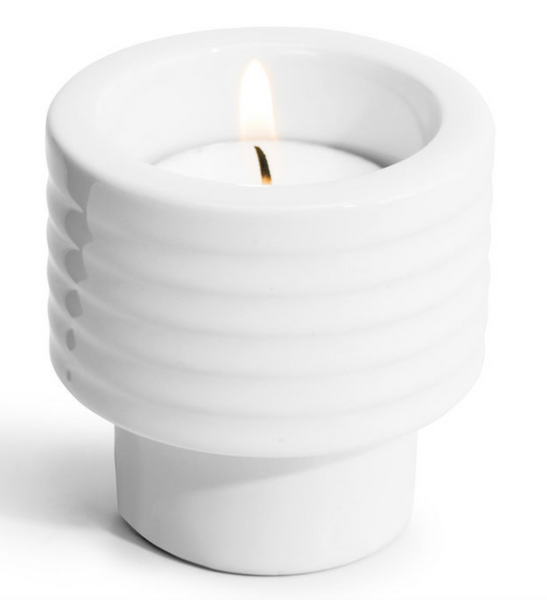 Tealight holder / Egg Cup - White