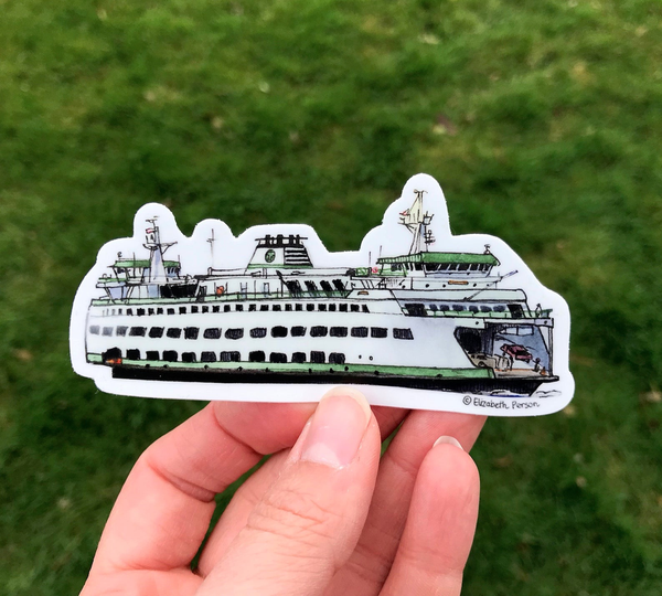Vinyl Ferry Sticker