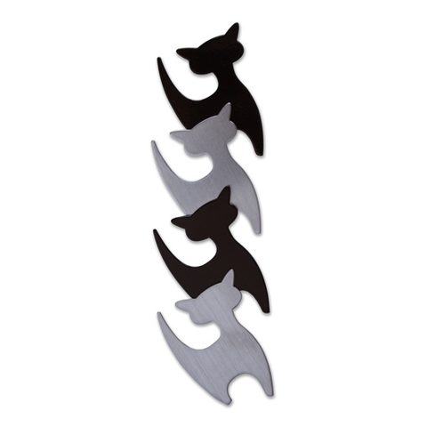 Cat Magnets stainless-black