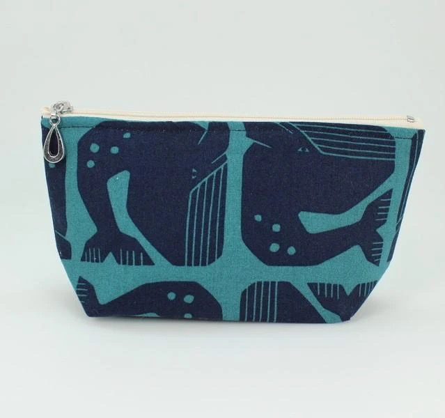 Zippered Pouch, Whales