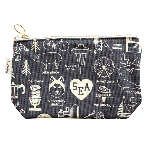 Maptote Seattle Pouch, Grey
