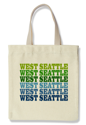 West Seattle Tote, Blue + Green