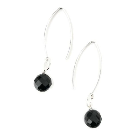 Laila Earrings - Onyx
