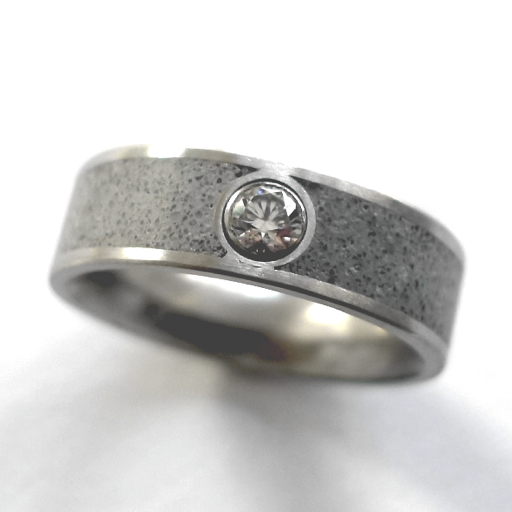 Diamond and Concrete Ring