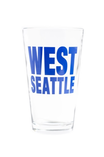 West Seattle Pint Glass - Blue