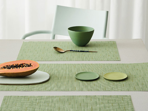 Placemat, Bamboo weave, Spring Green, Rectangle