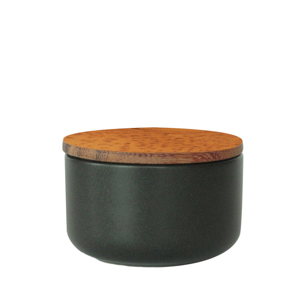 Stoneware Container Small, Black
