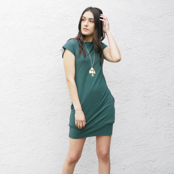 FluffyCo Mod Dress, Eco Green