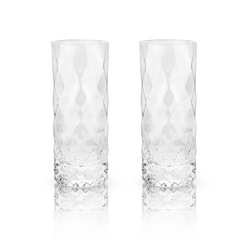 Gem Crystal Highball Glasses, Set of 2