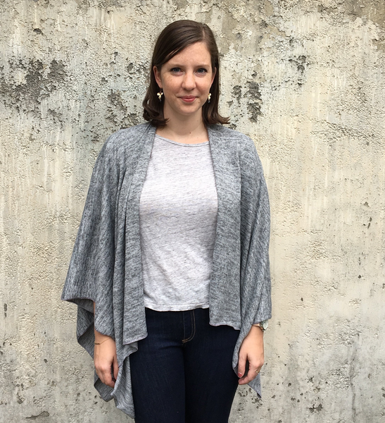 Autumn Jersey Wrap, Heather Grey