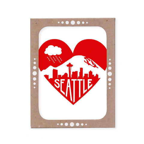 Fundraiser Item - Seattle Love Card Set by Claire Jauregui ($10 donation)