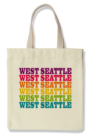 West Seattle Tote, Rainbow