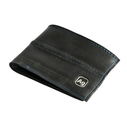 Franklin Inner Tube Wallet, Blue Thread