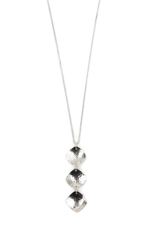 Rain City Forge Cushion Necklace, Long, Silver