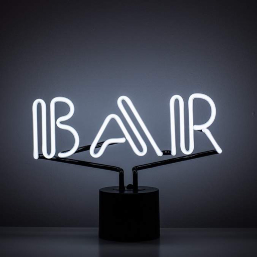 """BAR"" Neon Desk Lamp"