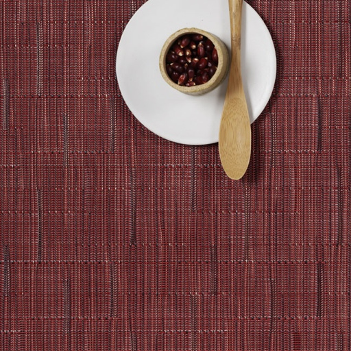 Placemat, Bamboo, Cranberry, Rectangle