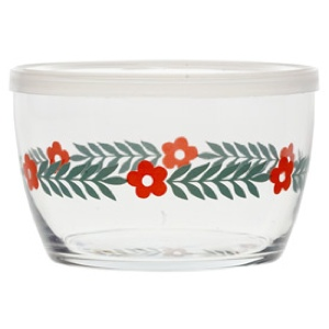 Storage Bowl, Red Daisy