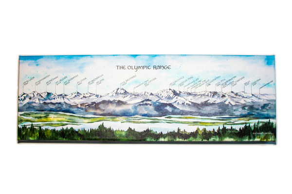 Olympic Range Wrapped Canvas Print
